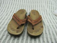 Men's Aldo Brown Leather Thong Flip Flop Sandals Size 43 / US 10