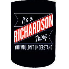 Stubby Holder - Richardson Thing Surname Personalised - Funny Novelty Christmas