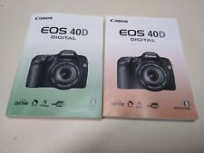Canon Eos 40D Camera Owner's Manual and software.