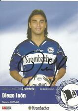 Diego leon-arminia bielefeld-temporada 2005/2006 - autografiada mapa
