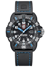 Luminox 3023 Coronado 44mm Case Black Rubber With Blue Stitching Tactical Watch