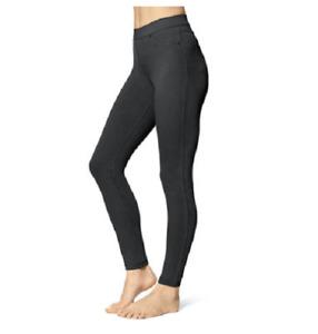 NEW Utopia by Hue Women's Slim Fit Denim Legging Black Size 2XL