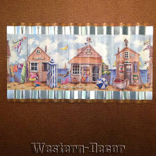 Wiggle Art Metal Seaside Cabana Hut Ocean Wallpaper Border Picture
