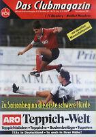 II. BL 94/95 1. FC Nürnberg - Waldhof Mannheim, 22.08.1994 - Mannschaftsposter