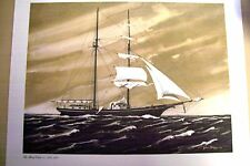 The Mary Celeste 1872-1972 Sail Boat Print of Water Color Done by John Styga '72