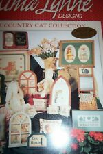 ALMA LYNNE A COUNTRY CAT COLLECTION COUNTED CROSS STITCH PATTERN BOOKLET 1987