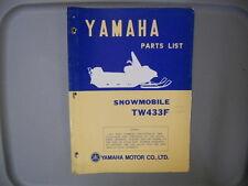 Yamaha Parts List Manual Snowmobile 1974 TW433F TW433 F