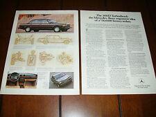 1982 MERCEDES BENZ 300D DIESEL ***ORIGINAL 2 PAGE AD***
