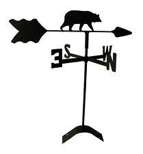 bear roof mount weathervane black wrought iron