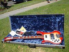 2017 Rickenbacker 4 String Lefty Left Handed Bass 4003 4001 Fireglo