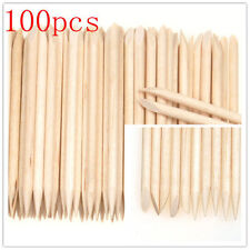 100pcs Nail Art Orange Wood Stick Cuticle Pusher Remover Manicure OK