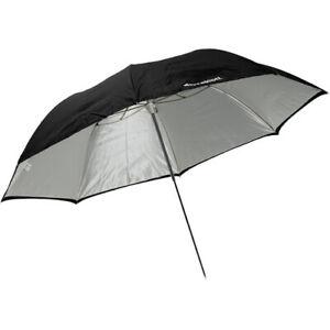 "Westcott #2021 60"" White Satin Umbrella with Removable Black Cover #QDR124"
