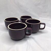 Lot of 4 SASAKI COFFEE TEA CUPS COLORSTONE JAPAN PLUM PURPLE Mug Stoneware