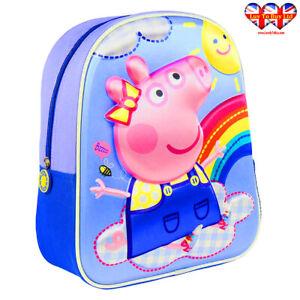 Peppa Pig 3D School Bag Children's Lunch Bag,Backpack,Official Licensed
