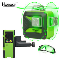 Huepar 3D 603CG Kreuzlinerlaser Set Empfänger/Laserlichtbrille/Stativ