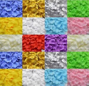 100 PACK - SILK ROSE PETALS - Wedding Confetti -  Party Decoration - 11 Colours