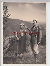 (F5659+) Orig. Foto Paar, Wanderer im Weserbergland 1936