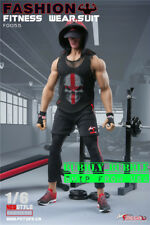 """1/6 Fitness Coach Gym Wear Clothing Set For 12"""" PHICEN M34 M35 Male Muscular"""