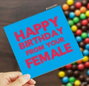 Happy Birthday from your Female / Funny Friday Night Dinner Witty Birthday Card