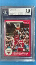 1984-85 Star Co. #101 MICHAEL JORDAN Chicago Bulls BGS 7.5 Rookie 7|9|8.5|8.5