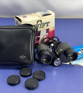 Swift Eaglet MKII 7x25 MkII Mark II Model 731 Binoculars Wide Angle Japan w/ box