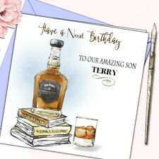 Personalised Birthday Card Whisky Husband Son Nephew Mate Male Jack Daniels