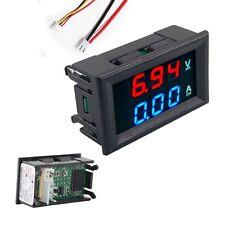 DC 0-100V 10A Dual LED digital Voltmeter Amperemeter Platte Messer rot blau GK