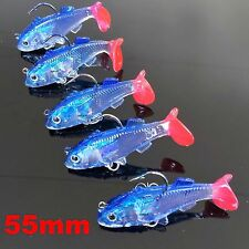 5 Soft Plastic Vibe Fishing  Lures 55 mm  Bream Lure Whiting Bass Flathead Lure