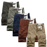 Men's Outdoor Army Cargo Combat Paggy Pockets Short Pants Trousers Shorts