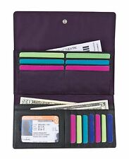 Travelon SafeID Accent Flap Clutch Wallet (Purple/Black)