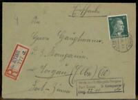 Germany 1944 Deutsch Eylau Poland Registered Wehmacht Prisoner Cover 90469
