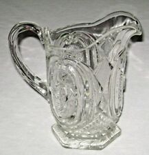 Antique ca. 1907 EAPG Daisy & Scroll U.S. Glass Co. Pitcher