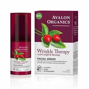 Avalon Organics Wrinkle Therapy with CoQ10 & Rosehip FACIAL SERUM 16ml