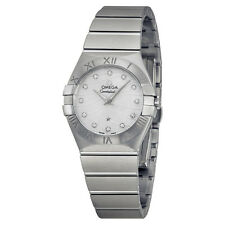 Omega Constellation Mother of Pearl Diamond Dial Stainless Steel Ladies Watch