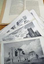 1829 C.Wellbeloved Account of St Mary's Abbey York - Vetusta Monumenta F.Nash