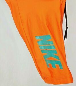 NOS Nike Cycling Shorts Orange Blue Unisex Size Small