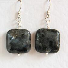 Stunning STERLING SILVER 925 Labradorite Gemstone EARRINGS Handmade UNUSUAL