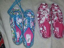 2 NEW PAIR VANS HELLO KITTY TENNIS SHOES SNEAKERS WOMEN'S SIZE 5.5 +YOUTH SIZE 3