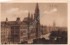 Cartolina - Postcard - Wien - Parlament auf das Rathaus - 1917