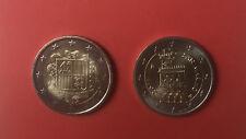 2 x 2 Euro aus Zwergstaaten: ANDORRA 2014 + SAN MARINO 2011 Euromünzen KMS