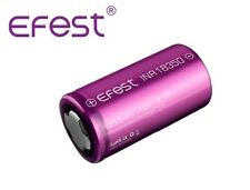 New Efest INR 18350 1200mAh (10A) 3.7V Flat Top Rechargeable Battery