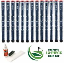 13 Winn Golf Dri-Tac Dritac AVS Soft Navy Blue Standard Size Grip + Install Kit
