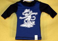 Children's Place Boy's SURFING MONKEY Swim Suit Rash Guard Shirt Size 6-9M NWT