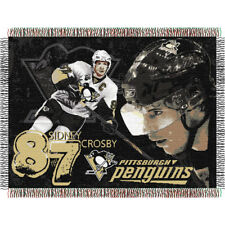 Sidney Crosby 87 Pittsburgh Penguins NHL Woven 48 X 60 Tapestry Throw