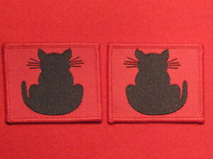 PAIR OF BRITISH ARMY WW2 56TH INFANTRY DIVISION FORMATION BADGES CATS