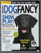 Dog Fancy Magazine 2002 November Curly Coated Retriever Saint Bernard Malinois