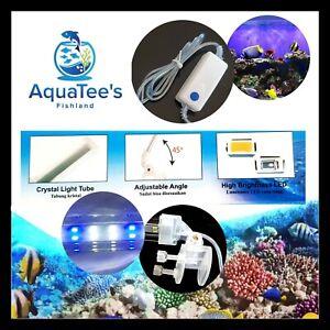 RECENT 20CM 20LED AQUARIUM LAMP SUBMERSIBLE FISH TANK LIGHT BLUE/WHITE RCC8WCRI