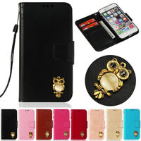 3D Owl Wallet Leather Flip Case Cover For iPhone 5S SE 6 6S 7 8 Plus X XR XS Max