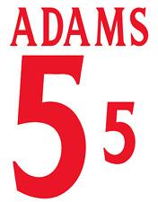 England Adams 2000 Nameset Shirt Soccer Number Letter Heat Print Football H
