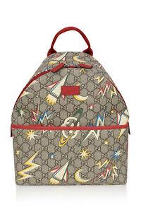 Brand New GUCCI Boys Beige GG Space Print Backpack